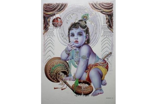cadre de Krishna baby