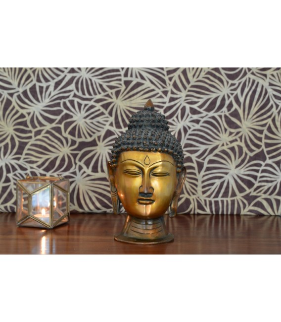 statue t te de bouddha bakchichbaba. Black Bedroom Furniture Sets. Home Design Ideas