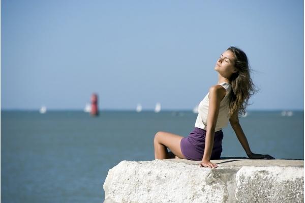 Short de yoga mauve