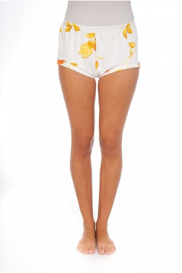 Shorty fleur jaune