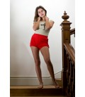 Short de Yoga rouge