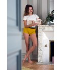 Short de yoga The line jaune