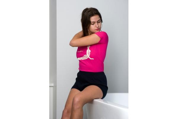Navy yoga short