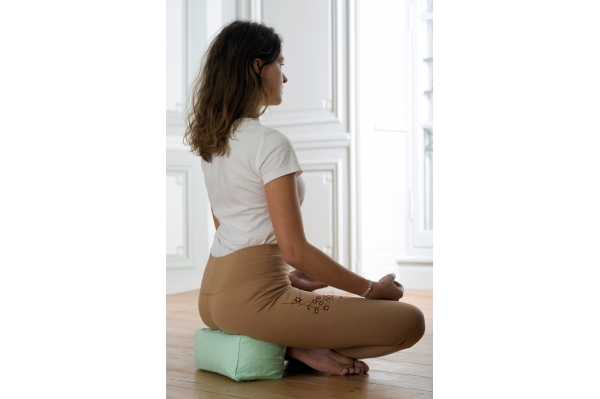 Meditation cushion Keya green