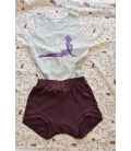 Short de yoga prune