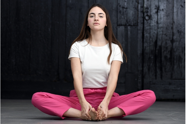 Pantalon de yoga fushia
