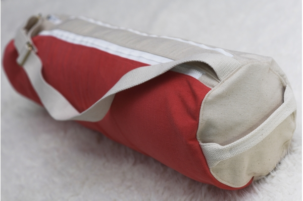 Sac de yoga Priya blanc et rouge