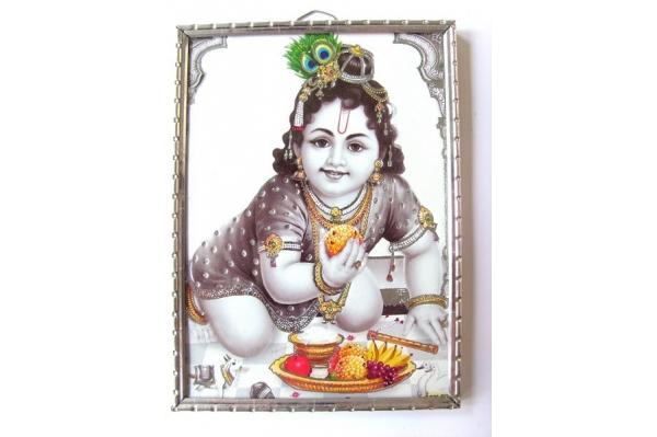 Petit cadre de Krishna enfant