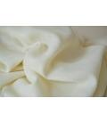 Châle de méditation en laine blanc