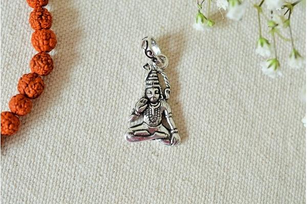 Shiva silver pendant
