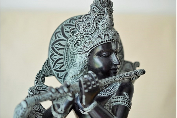 Big Krishna sculpture