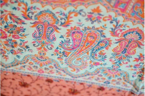 Rose wool meditation shawl
