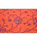Châle de méditation en laine orange