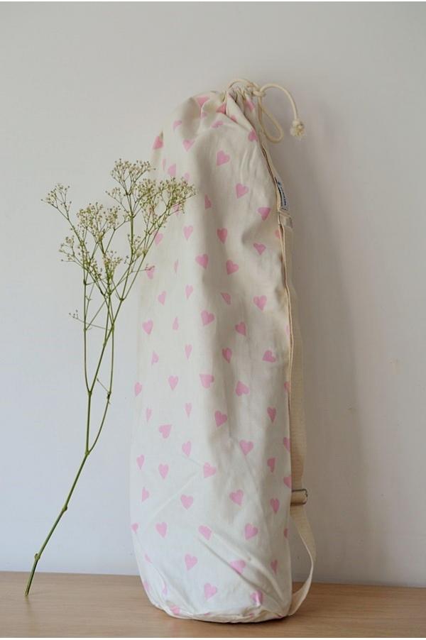 Yoga mat bag Emy coeurs roses