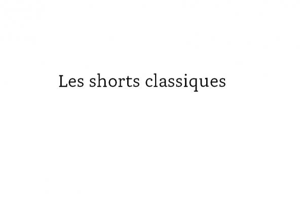 shorts classique