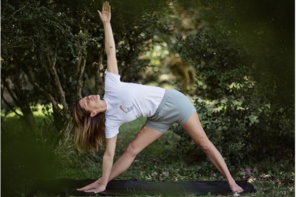 Short de yoga gris