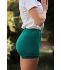 Emerald green yoga short