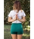 Emerald green yoga short
