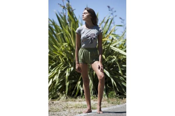 Short de yoga vert