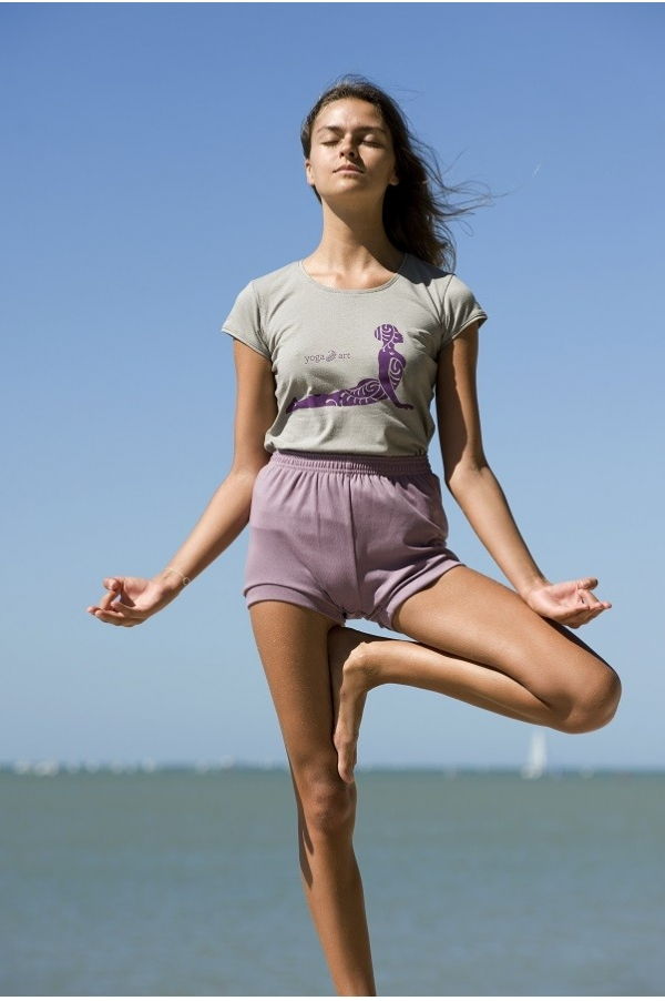 Purple ash yoga short