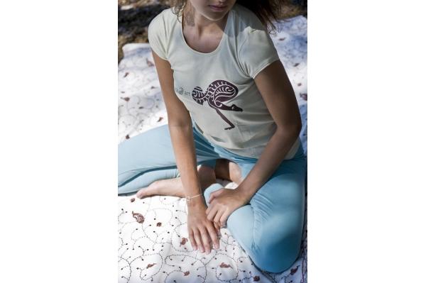 T-shirt de yoga chamois
