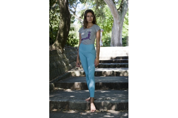 Legging long aqua
