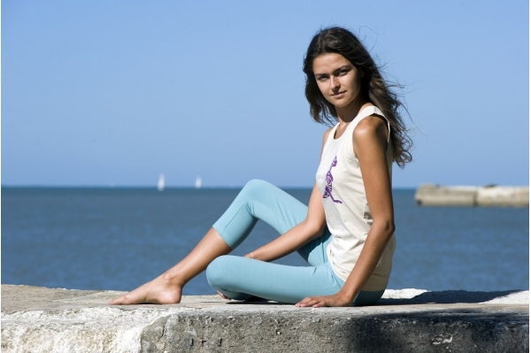 Legging court aqua