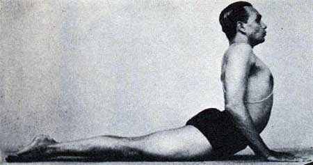 "Bhujangasana-  ""Light on yoga"" from B.K.S. Iyengar."